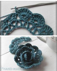 We knit crochet flowers. Discussion on LiveInternet - Russian Online Diaries Service Crochet Butterfly Free Pattern, Crochet Bedspread Pattern, Irish Crochet Patterns, Crochet Motif, Crochet Flowers, Crochet Stitches, Knit Crochet, Crochet Bracelet, Crochet Earrings
