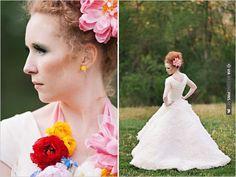 ruffled wedding dress | CHECK OUT MORE IDEAS AT WEDDINGPINS.NET | #bridesmaids