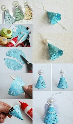 Paper doilies make pretty little angels angel crafts pinterest hazlo tu misma do it yourself diy arts solutioingenieria Choice Image