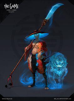 Monk_hunter, Nikita Blyzniuk on ArtStation ❤ ℒℴvℯly Male Character, Fantasy Character Design, Character Creation, Character Design Inspiration, Character Concept, Concept Art, Game Character Design, Game Concept, Rpg Cyberpunk