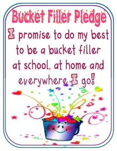 Free19-page Bucket Filler Starter Kit by Mel D at Teachers Pay Teachers