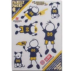 """NCAA Michigan Wolverines Family Decal Small 5"""" X 7"""""""