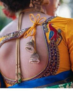 Wedding Saree Blouse Designs, Saree Blouse Neck Designs, Fancy Blouse Designs, Designs For Dresses, Sari Blouse, Wedding Sarees, Peacock Blouse Designs, Latest Blouse Neck Designs, Indian Blouse Designs