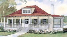 Looking for the best house plans? Check out the Bermuda Bluff Cottage plan from Southern Living. Southern Living House Plans, Southern Cottage, Country House Plans, Coastal Cottage, Coastal Living, Southern Porches, Cottage Floor Plans, Cottage House Plans, Cottage Homes