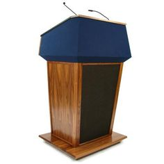 SN3045 - Patriot Plus Lectern  -Now upgraded to 150W amp. -No longer 50 Watt, no longer battery operated. -Integrated control panel and Bluetooth for sound and wireless models.