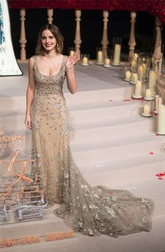 Emma Watson Is A Modern-Day Belle At 'Beauty And The Beast' Premiere