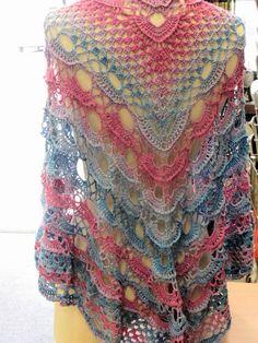 Russische sjaal met link naar Nederlands patroon