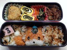 posted from @riekorin おはよう(^O^) 今日のお弁当は、ゆるキャラグランプリ3位のぐんまちゃんで〜す♪ #kyaraben #obentoart