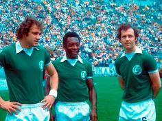 Giorgio Chinaglia, Pelé e Franz Beckenbauer. #NY Cosmos