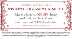 Winter Outlet Sale
