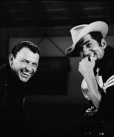 Dean Martin & Frank Sinatra on the set of Sergeants 3