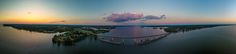 Panorama of the Bay of Quinte by Abi Reid