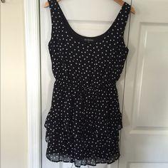 Black dress Black polka dot dress, purchased from Nordstrom, never worn Dresses Mini