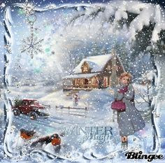 Christmas Scenes, Christmas Past, Holiday Tree, Christmas Greetings, Winter Christmas, Christmas Crafts, Animated Christmas Pictures, Winter Magic, Old Fashioned Christmas