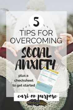 Let's face it...social anxiety absolutely SUCKS. I lived with debilitating  social anxiety for many years and I understand how painful it can be.  Well, guess what? You're at Cari On Purpose so you know what I'm gonna  say...you can heal it! It might take some work and dedication but I did it  and so can you.