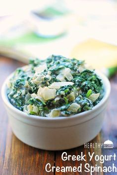 Greek Yogurt Creamed Spinach