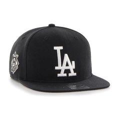 Los Angeles Dodgers 47 Brand Black Sure Shot Snapback Hat c06a10809473