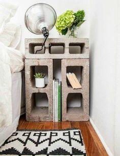 ¿Sabías que con los bloques de cementos son verdaderamente geniales? Mira esto es maravilloso y buenísimo.