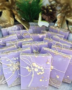 Gorgeous Lavender And Oatmeal Soap Favors Make A Perfect Treat For Your Guests.