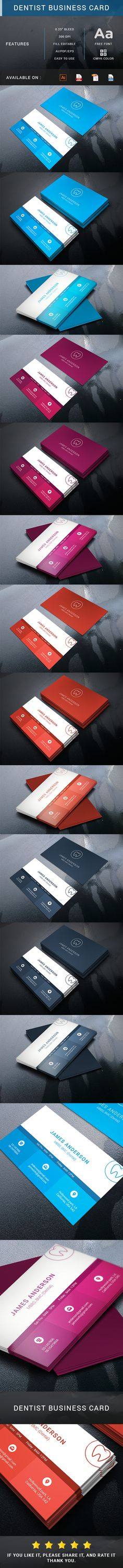 """Check out my @Behance project: """"Dentist business card"""" https://www.behance.net/gallery/45165373/Dentist-business-card"""