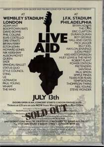 1985 - Live Aid (there will never be anything like it again)