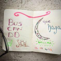 """""""buscando un sol que haga brillar a la luna"""" Andre Guayasamín"""