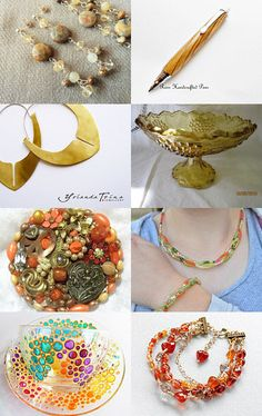 One day to Christmas- Yellow and Orange by Joanna from Aromatika Sapounia-Scented Soaps on Etsy--Pinned with TreasuryPin.com
