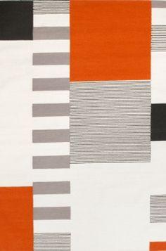 Graphic Orange carpet by Linie Design
