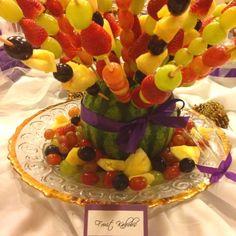 fruit kabobs Recipe | via jillian pangalangan