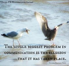 Communication quote via Alice in s TeaTray at www.Facebook.com/WonderlandsTeaTrayWonderland'