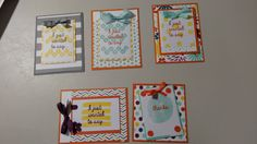 Thank You cards using February paper pumpkin kit