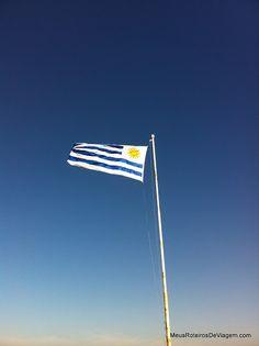 Bandeira do Uruguai em Punta del Este
