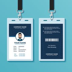 Id Card Design Template . 25 Id Card Design Template . Modern Id Card Template with Gra Nt Blue Navy Abstract Cleaning Business Cards, Business Plan Template, Business Card Mock Up, Custom Business Cards, Business Card Design, Architecture Business Cards, Eid Card Designs, Employee Id Card, Id Card Template