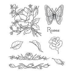 Clarity Jaynes Roses Stamp Set