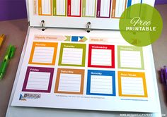 We've combined our love for free printables and organizers/planners into a cute set of freebies for you.