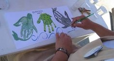 Sea Animal handprint ideas