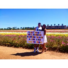 Prom proposal at the flower fields