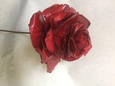 Χειροποίητο τριαντάφυλλο από ορείχαλκο/ Handmade metallic rose from cooper by CraftyFantasyGreece on Etsy
