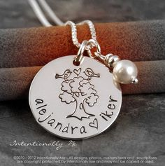 Hand Stamped Necklace  Sterling Silver by IntentionallyMe on Etsy, $38.00