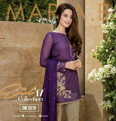 Maria.B Eid Collection #HotPurple ✌ #ReadyToWear  #Summers ❤ #TraditionalWithAModernBlend #Embellished #Breezy Must have this for a friends Iftar Party!! Model #AimanKhan #MariaB #EidCollection17 #EidLawnCollection17 #SummerCasual  #SummerEidCollection #PakistaniFashion #PakistaniCelebrities  ✨