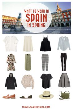 Traveling to Spain in the Spring? Use this comprehensive packing guide to help you pack stylishly light for destinations like Madrid, Barcelona and Girona. | travelfashiongirl.com