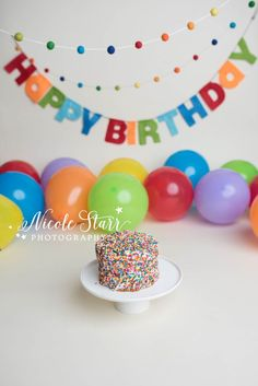 A Rainbow Cake Smash for Lucas | Boston Cake Smash Photographer — Saratoga Springs & Boston Baby Photographer, Nicole Starr Photography