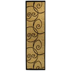 Ephesus Collection Ivory Tribal Filigree Contemporary Runner Rug (1'10 x 6'10) | Overstock.com Shopping - The Best Deals on Runner Rugs