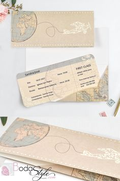 47 Wonderful Wedding Design Ideas With Travel Theme For Travellers - Every bride wants her wedding to be an unforgettable day. You want it to be a magical time, and as well as an event that will make your guests weep wi. Backyard Wedding Invitations, Wedding Stationary, Wedding Invitation Cards, Wedding Cards, Wedding Favors, Travel Themes, Wedding Designs, Wedding Ideas, Rustic Wedding
