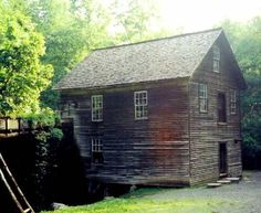 Mingus Mill is located in the Great Smoky Mountains west of Cherokee, Swain Co., NC.