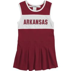 Chicka-d Girls' University of Arkansas Cheerleader Dress (Red Medium, Size Medium) - NCAA Licensed Product, NCAA Youth Apparel at Academy Sports