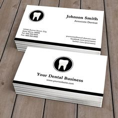 Customizable Simple Elegant - Dentist Dental Care Clinic Business Card Templates