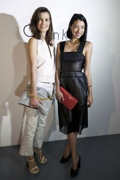 Calvin Klein on Show in Beijing - Hanneli Mustaparta & Lily Kwong  [Photo By: Sharron Lovell]