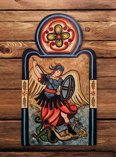 MADE TO ORDER  San Miguel Arcangel Saint by LuceroArtandDesign