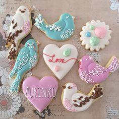 Love bird cookies by Aurinko